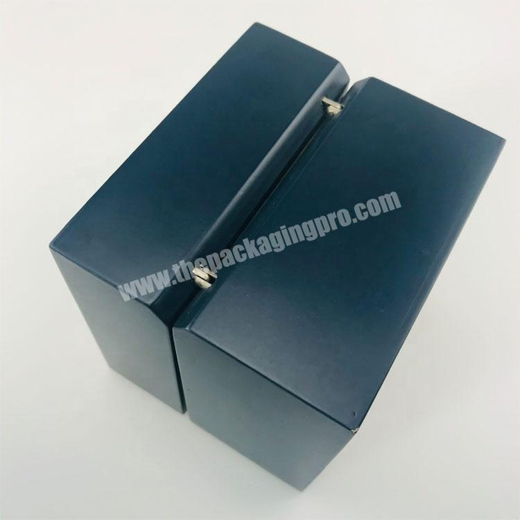 Manufacturer Smooth matte surface lacquer painted wood packaging box with velvet inside