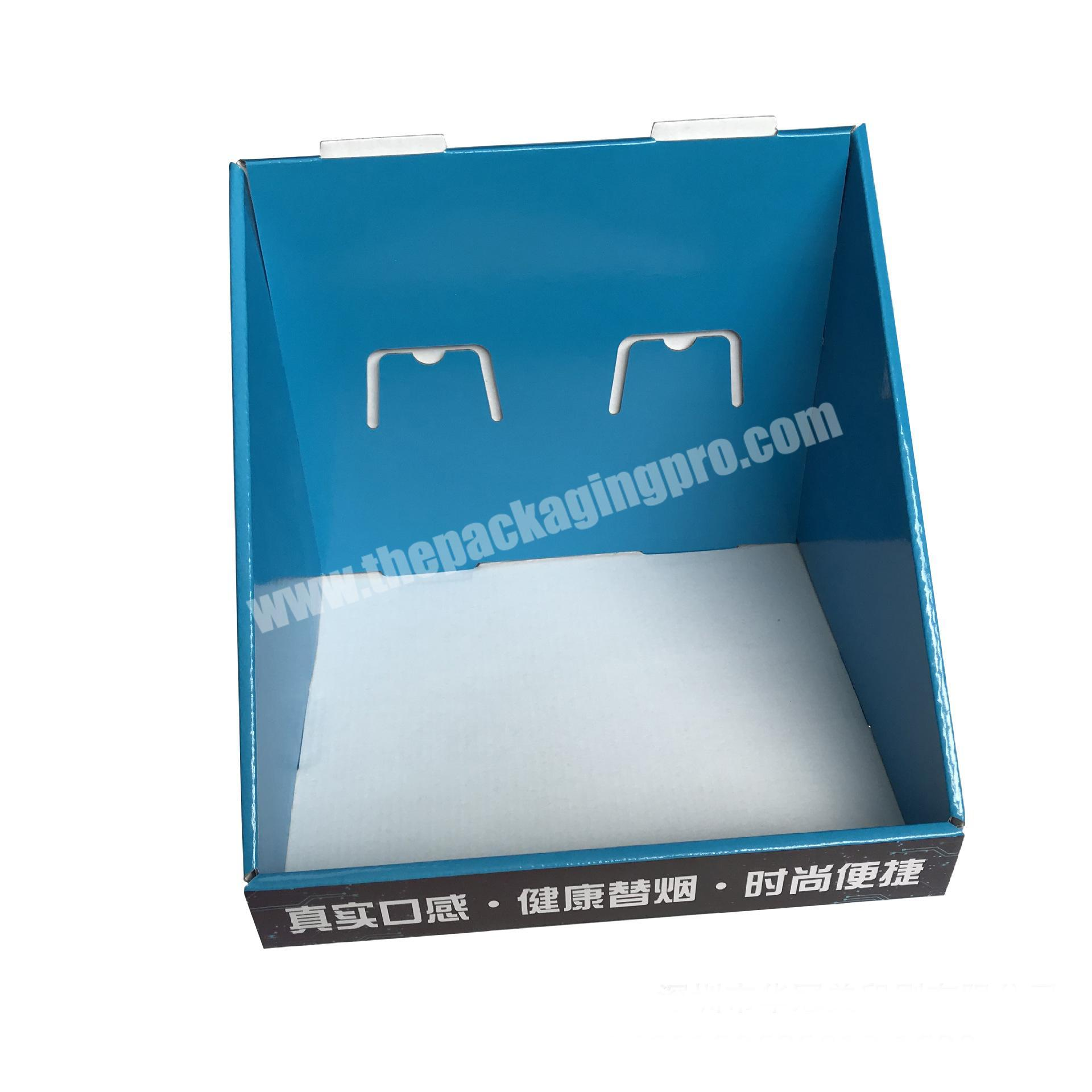 snack packaging box shipping corrugated box counter display rack cardboard