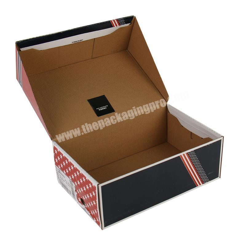 Sonpha Custom Logo Foldable Corrugated Paper Shoe Box Carton With Handle