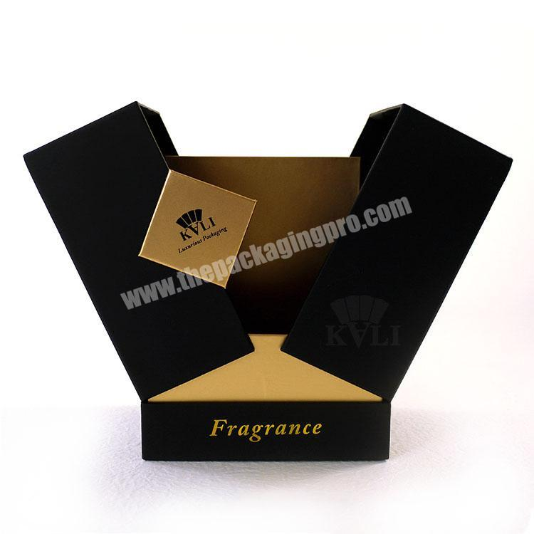 Manufacturer Special Design Soft Touching Custom Black Luxury Perfume Box Packaging