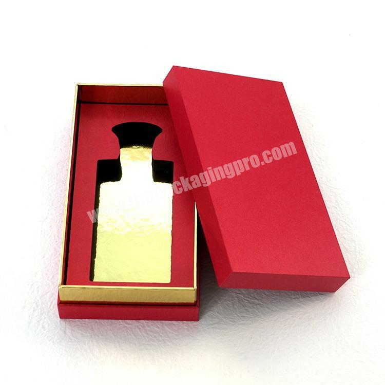 Square 150 ml perfume oil packaging box satin lined rigid paper slant boxes