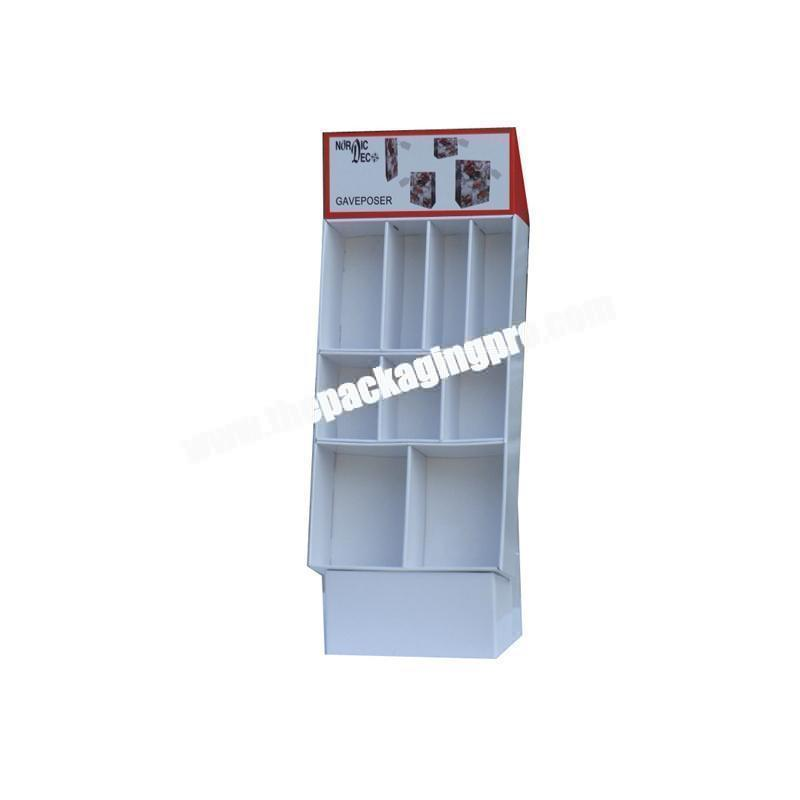 Square corrugated hair product display box