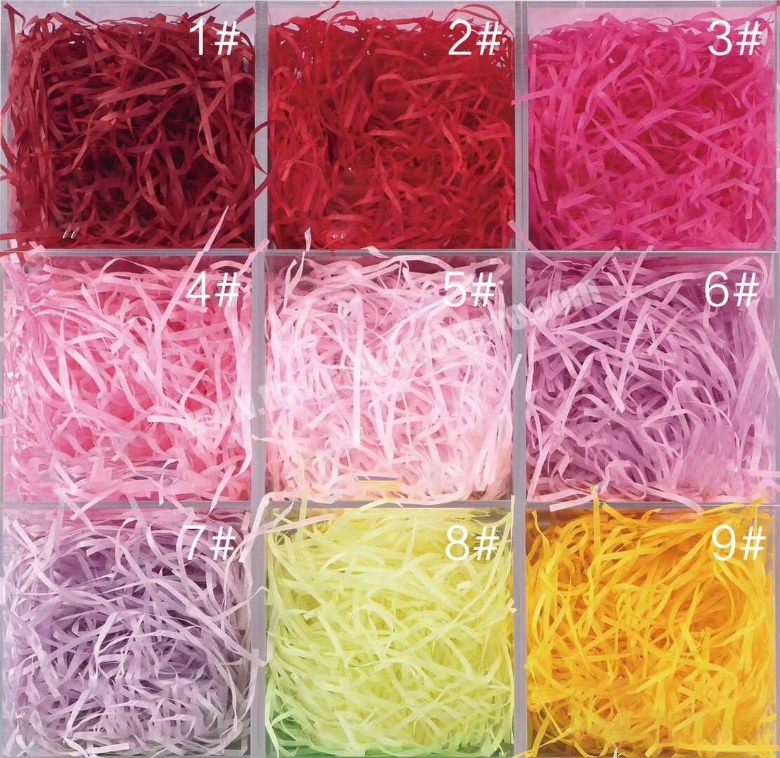 Stuffing paper shredded tissue paper with more than 50 colors