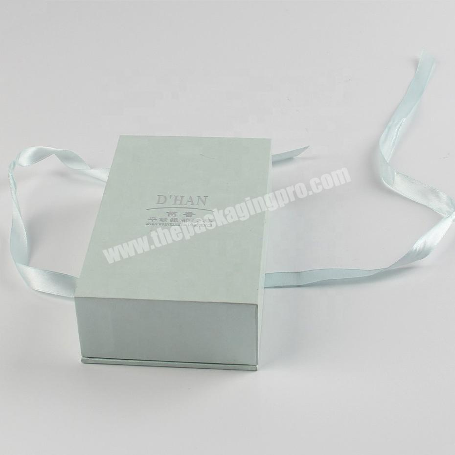 Custom sweet fabric wrapping cellophane perfume packaging boxes