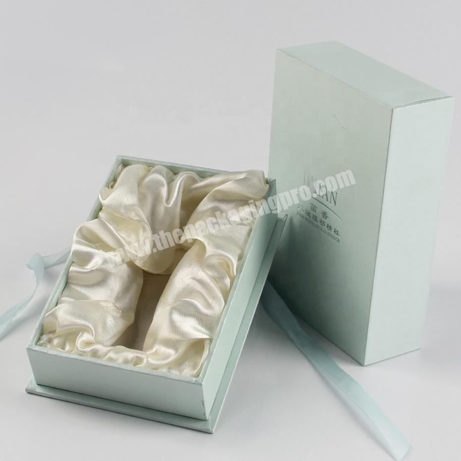 Manufacturer sweet fabric wrapping cellophane perfume packaging boxes