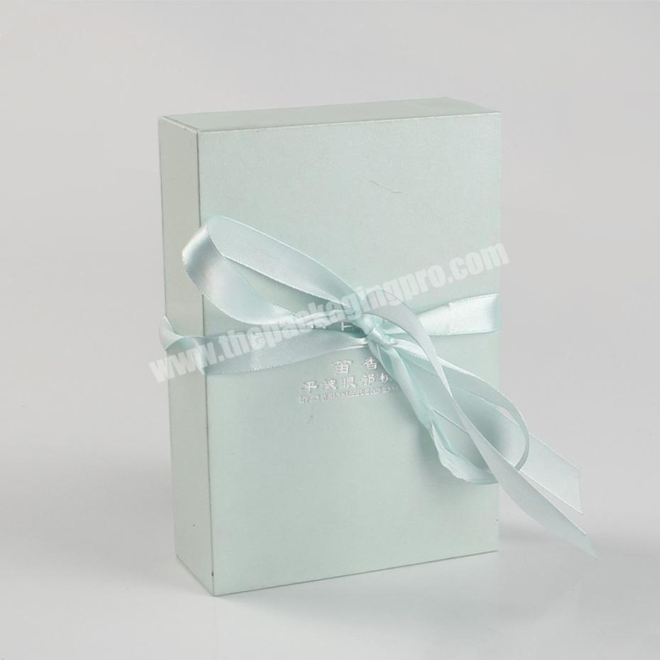Supplier sweet fabric wrapping cellophane perfume packaging boxes