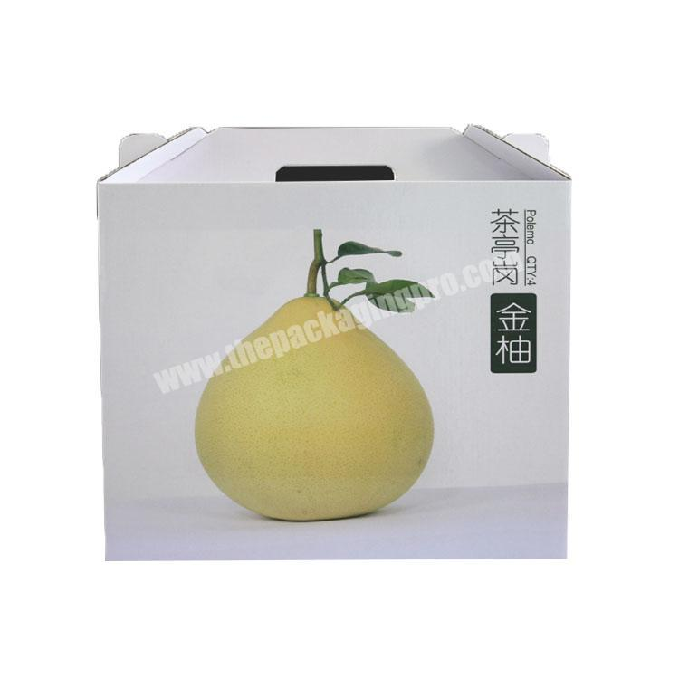 Factory takeout boxes with handle corrugated shipping boxes custom packaging box