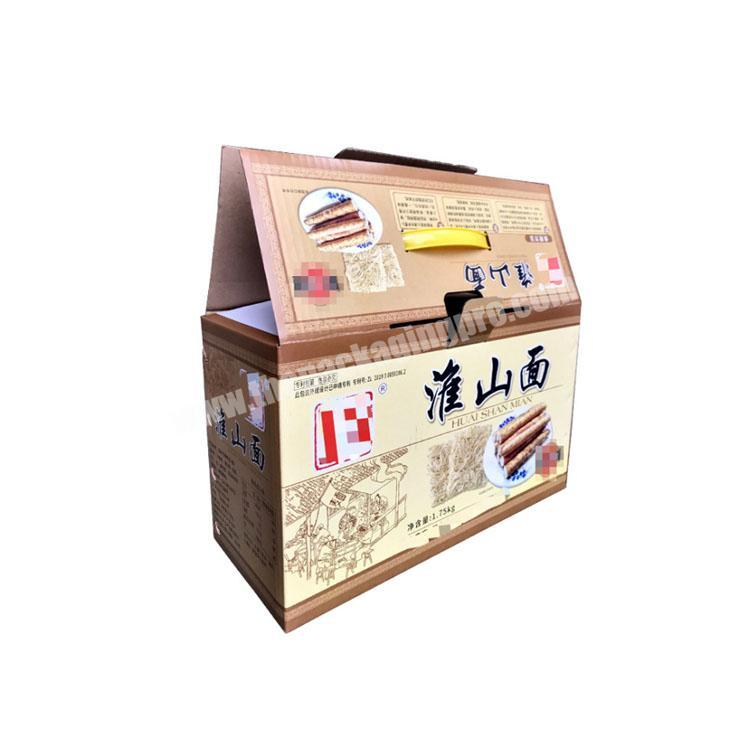 Wholesale takeout boxes with handle corrugated shipping boxes custom packaging box