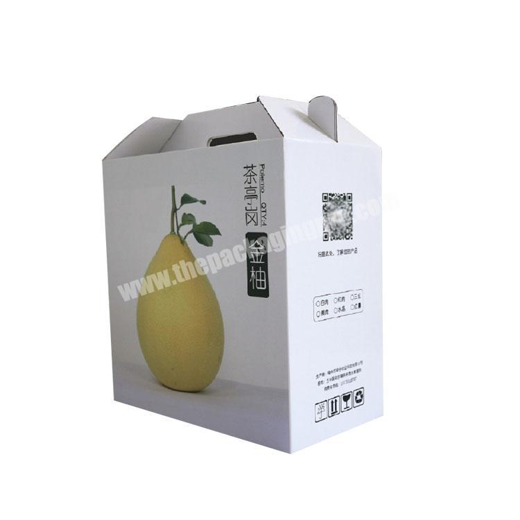 Factory takeout boxes with handle custom packaging box corrugated shipping boxes