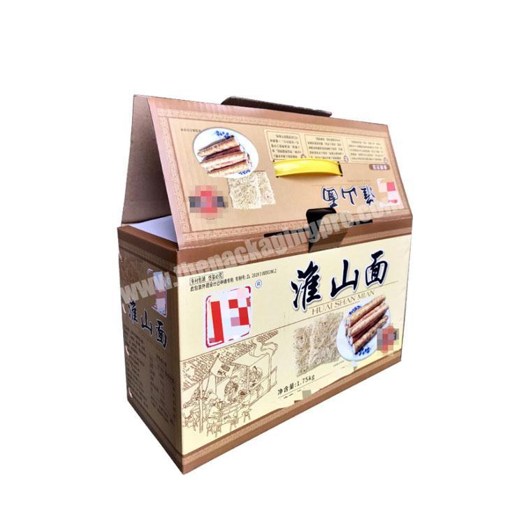 Manufacturer takeout boxes with handle custom packaging box corrugated shipping boxes