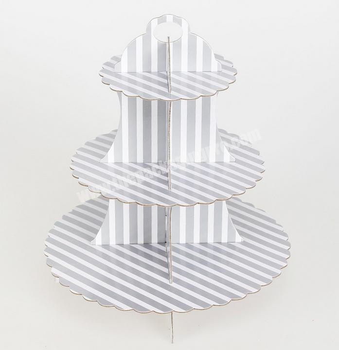 Manufacturer Three-layer paper gold and silver cake rack birthday party dress-up fair dessert rack