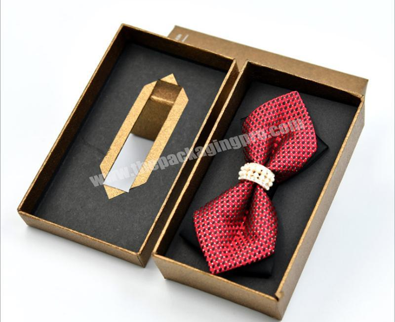 Tie and tie gift box gift box tiandi square brown gift box top and bottom cover can be customized