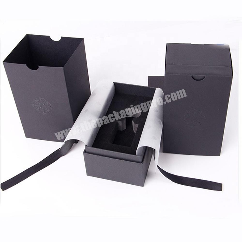 Top and bottom 2 pieces perfume bottle cardboard rigid gift box