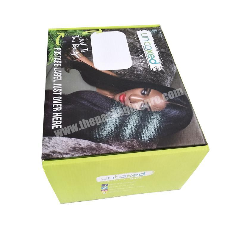 Top Beauty Display Box Paper Box Cosmetic Packaging Cosmetic Box for Scarf Wigs