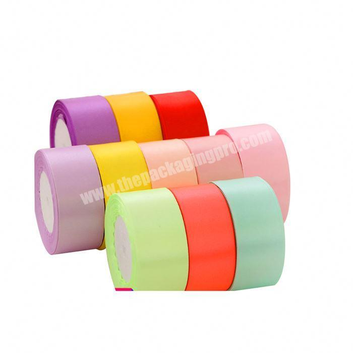 Top Quality 3mm-100mm Solid Color  Nylon Satin Ribbon