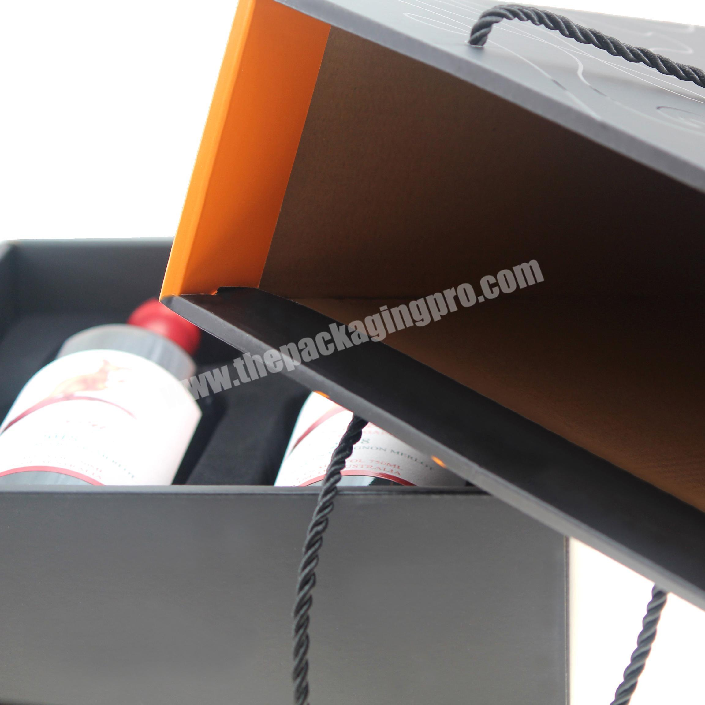 top quality and custom exquisite wine glass  wine packaging gift packaging+bags