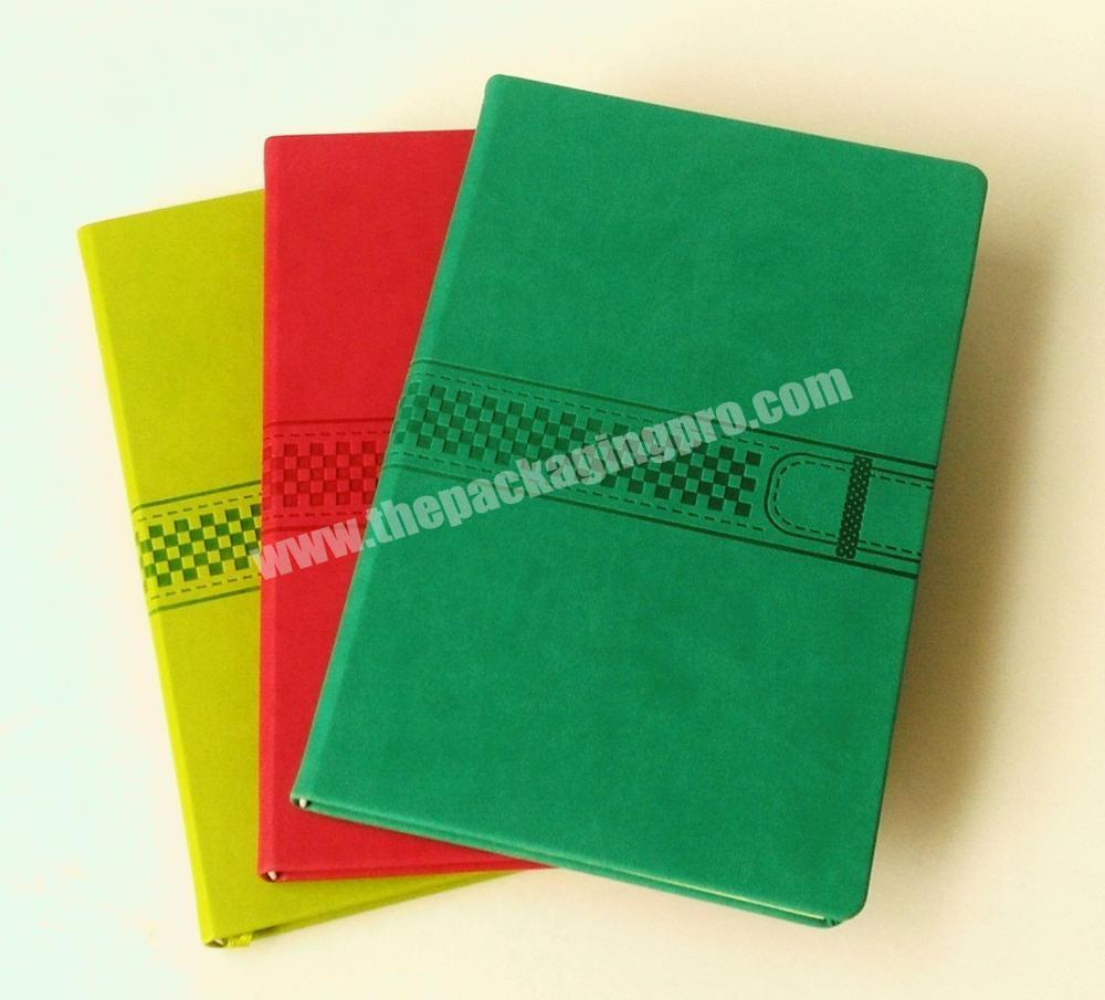Top Quality Classic Embossed Journal  Leather Cover Notebook Customize Planner