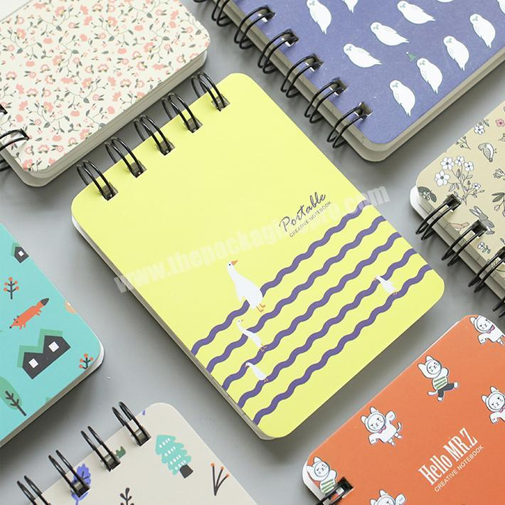 Top quality custom print small pocket paper spiral notebook