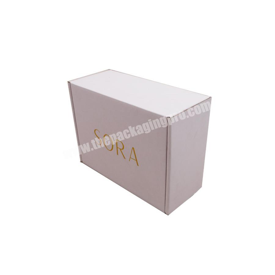 top quality hot sale white corrugated mailer boxes with logo