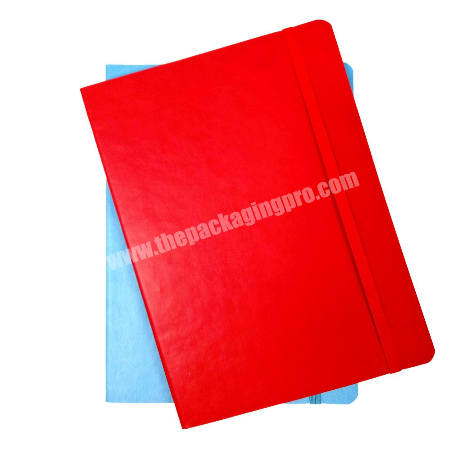 Top quality pu leather notebook composition journal eco friendly diary