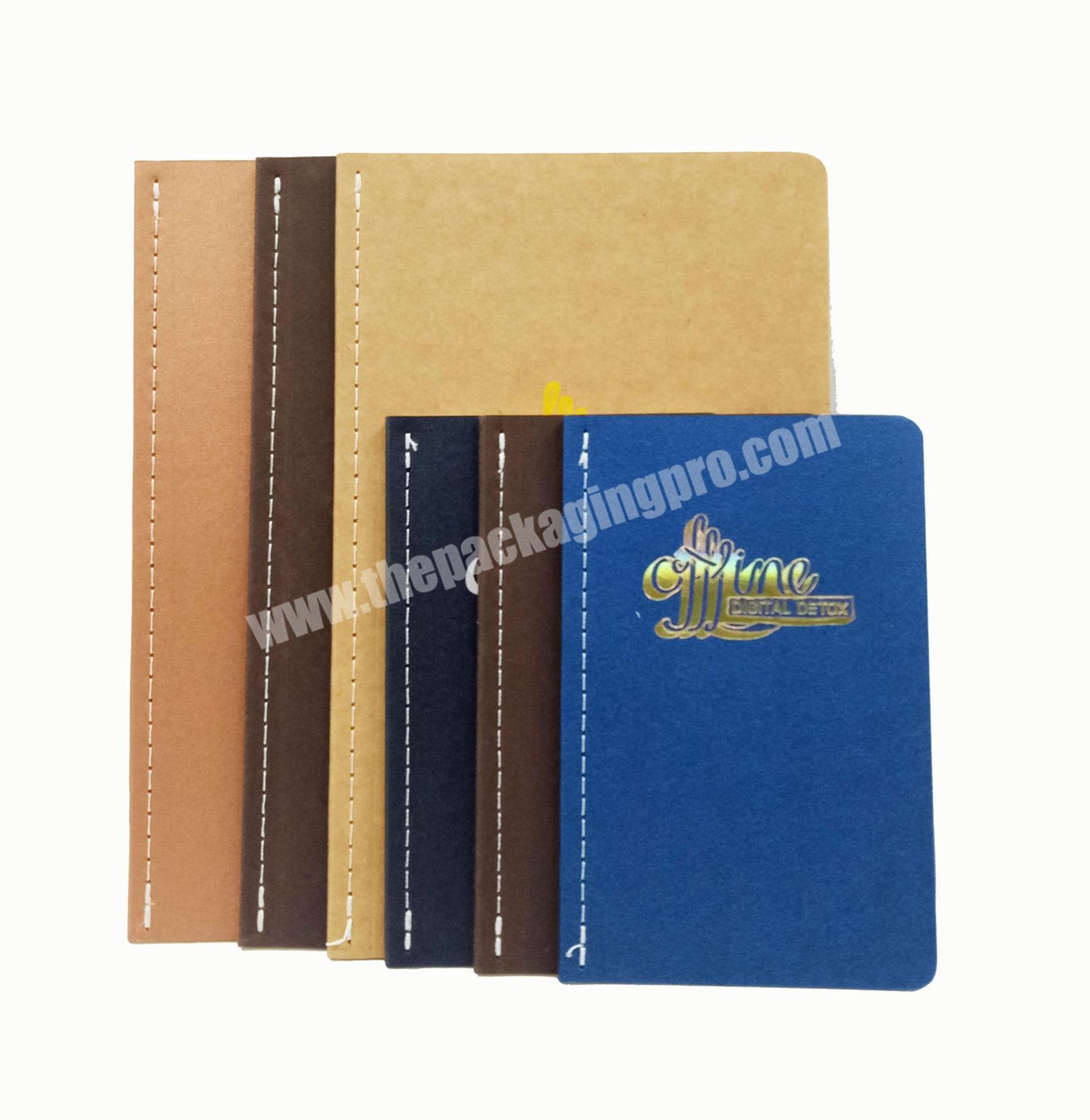 Top quality soft cover notebook custom week planner school student diary writing journal