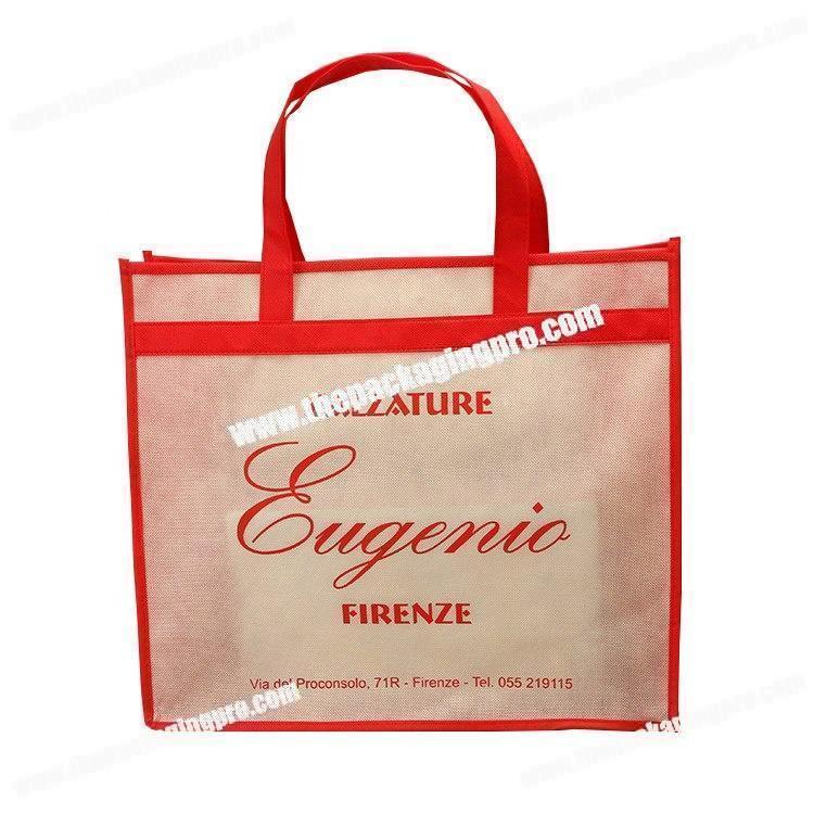 d9b29b0fea08 Trade fair advertising print design non woven carry bag