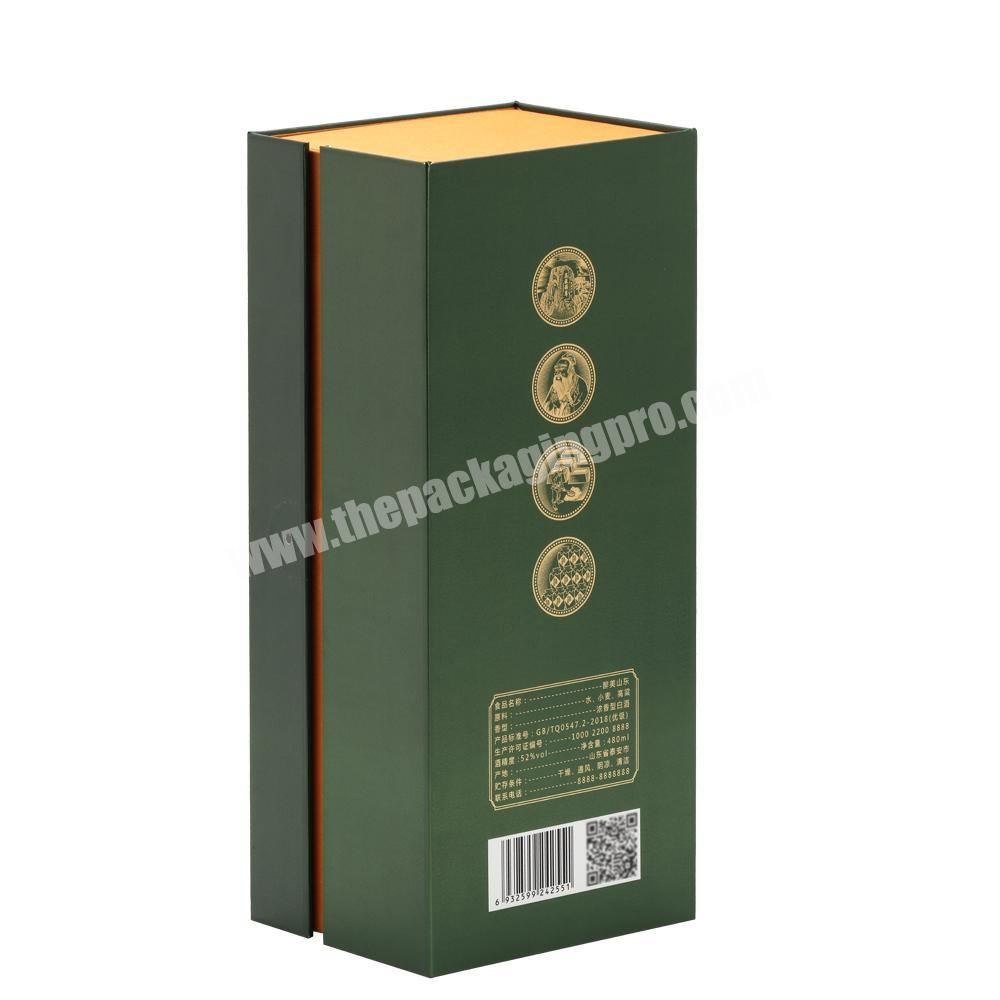 Manufacturer Traditional Luxury Handmade High Quality Lid Hinged Base Rigid Paper Cardboard Box with Satin Cushion for Wine Whisky  Cognac