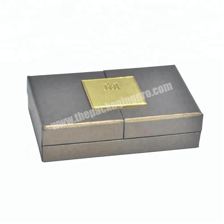 Two sides opening paper perfume box fancy magnetic gift box with UV logo