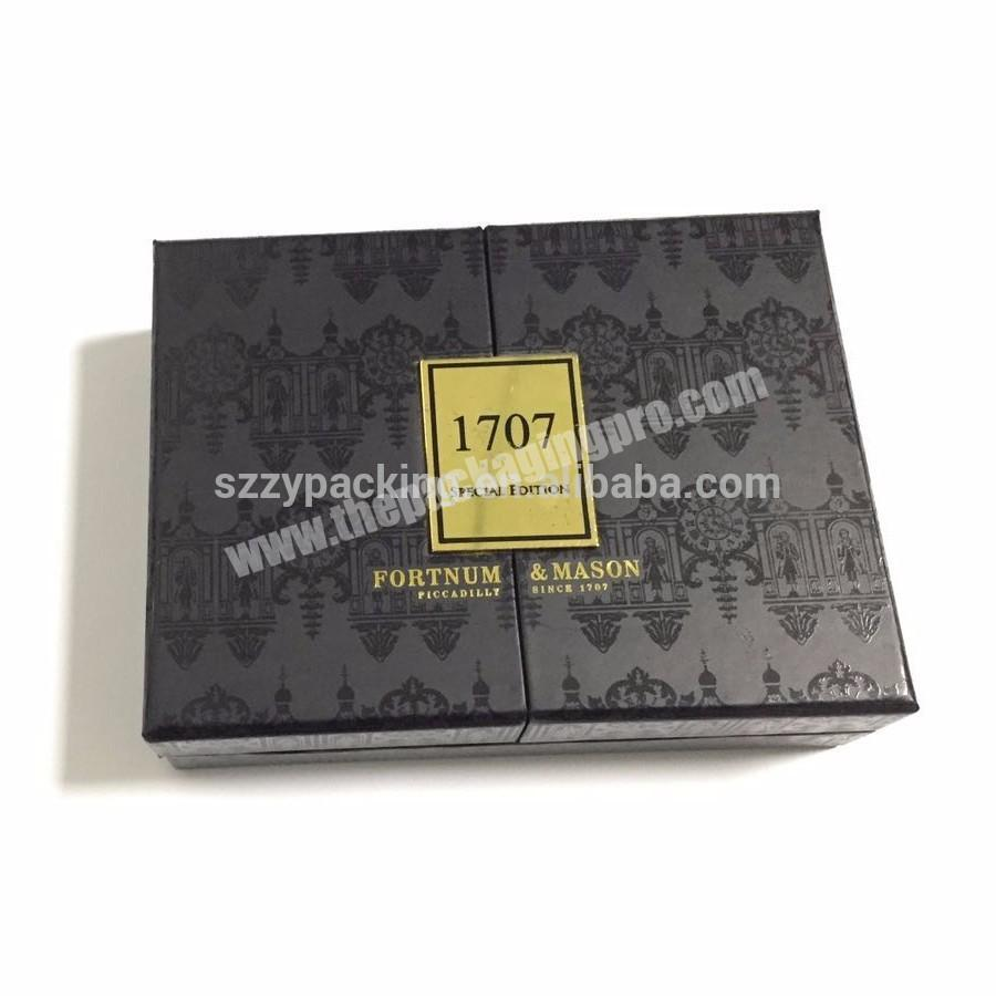 Manufacturer Two way opening small perfume box gift box with magnetic lid