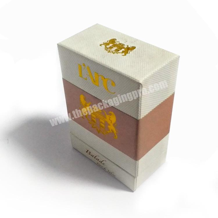 Factory Unique design empty cardboard perfume bottle sample packaging box luxury