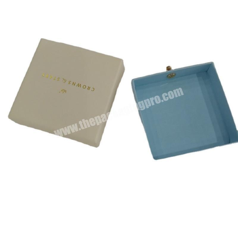Unique paper jewelry packaging paper boxes customized jewelry drawer paper box with pouch