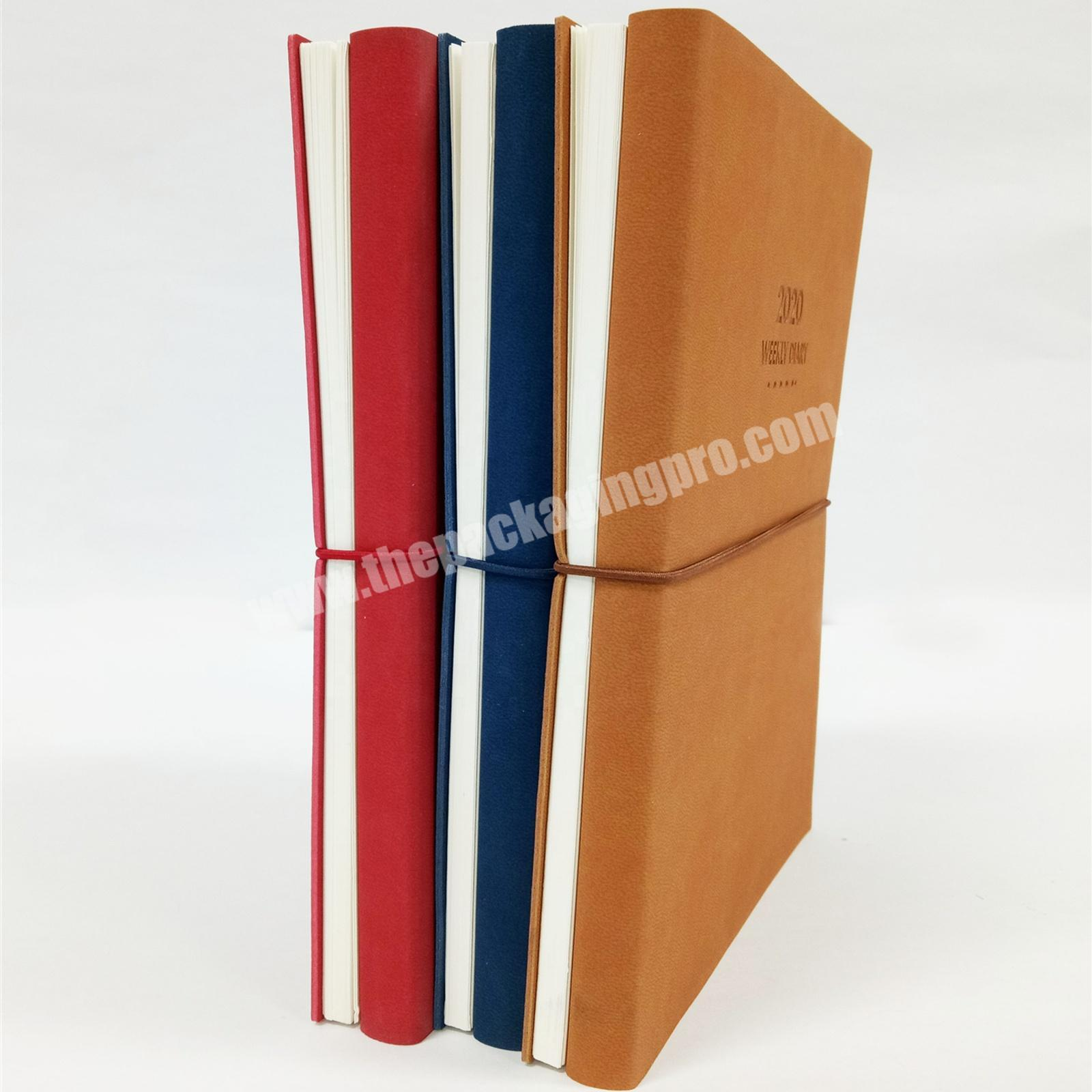 Vintage Style Double-sided Notebook  Weekly Diary Customized Lined Journal