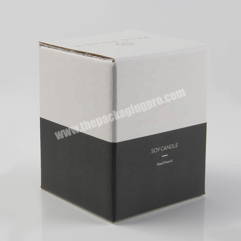 Wholesale White coasters coffee mug packaging gift box for candle