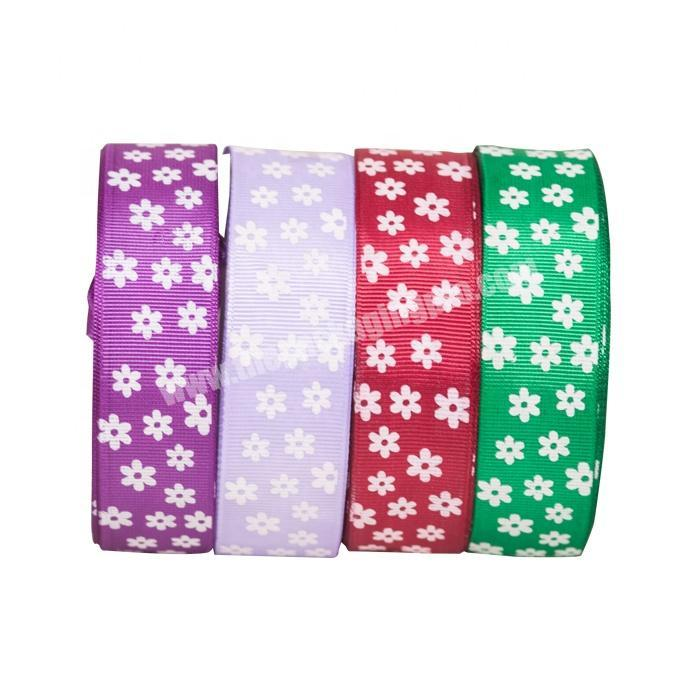 wholesale 100% polyester printed grosgrain ribbon