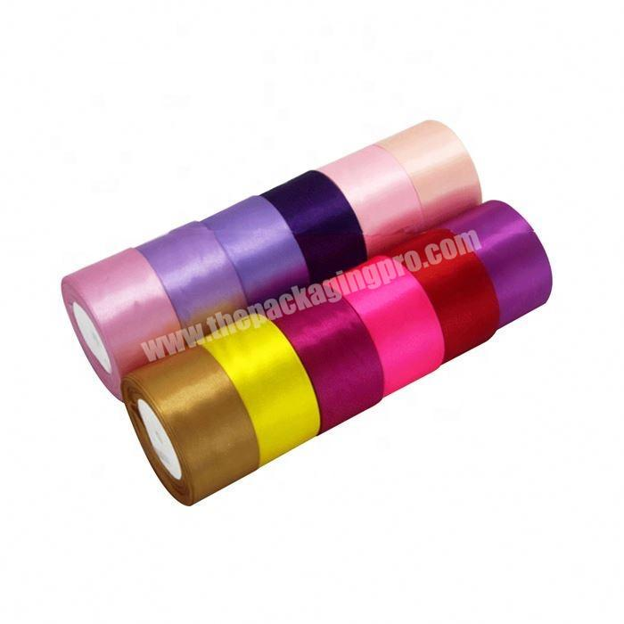 Custom wholesale 2 Inch Double Face Satin Ribbon For Gift Box Packing