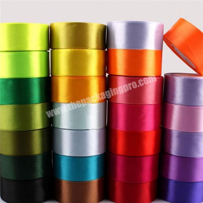Wholesale wholesale 2 Inch Double Face Satin Ribbon For Gift Box Packing