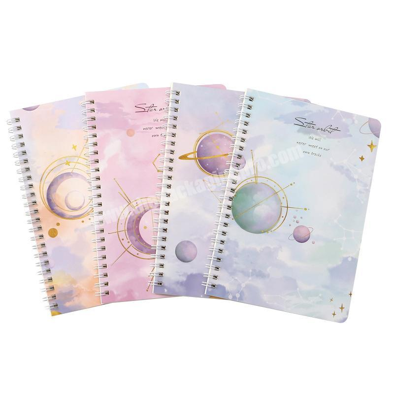 Wholesale A4 A5 Size Office School Statlonery Thick Spiral Custom Notebook Printing Note book Diary With Dividers
