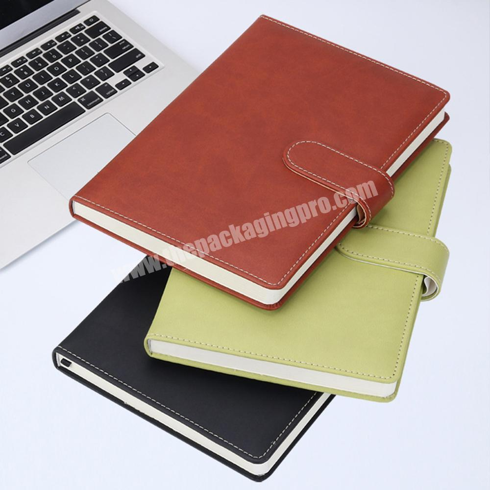 Factory Wholesale A4 size Hardcover PU Leather School Stationery Classmate Lined Paper Notebook