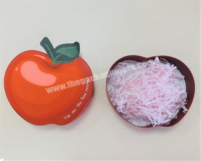 Wholesale Apple shaped creative packaging box for gift chocolate candy