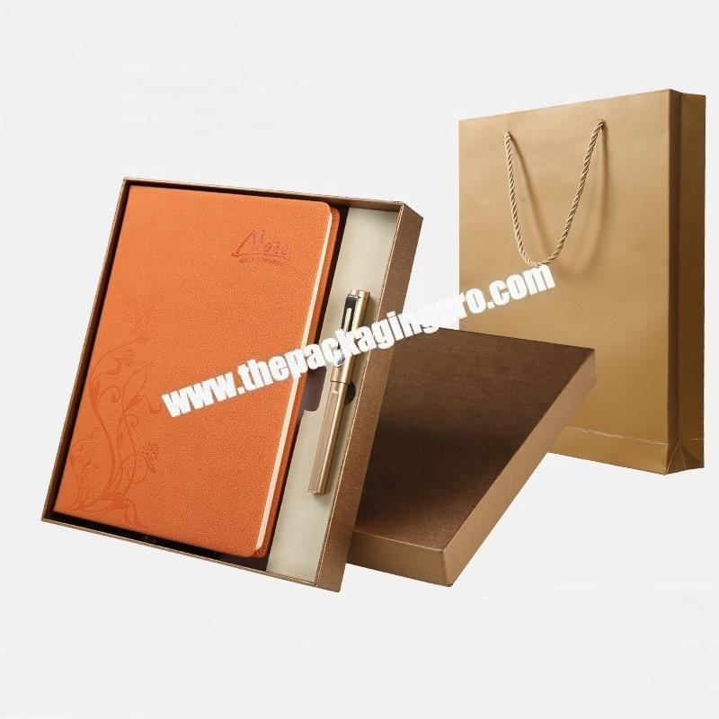 Wholesale Black Soft Pu Leather Journal Notebook 2021 A5 Custom Promotional Luxury Business Gift Set Notebook With Pen And Box