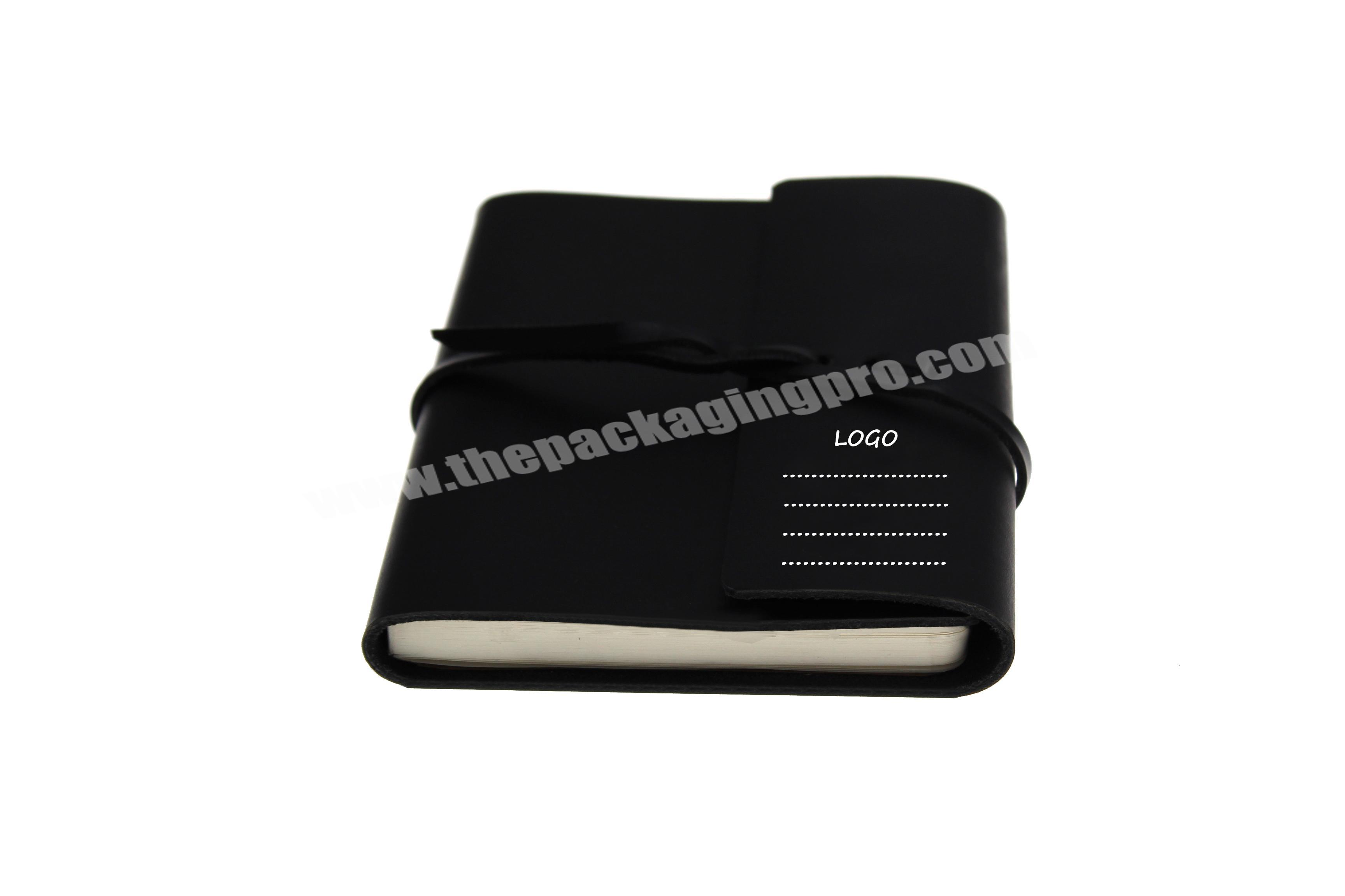 Supplier wholesale cheap and cheerful custom logo fancy PU leather notebook