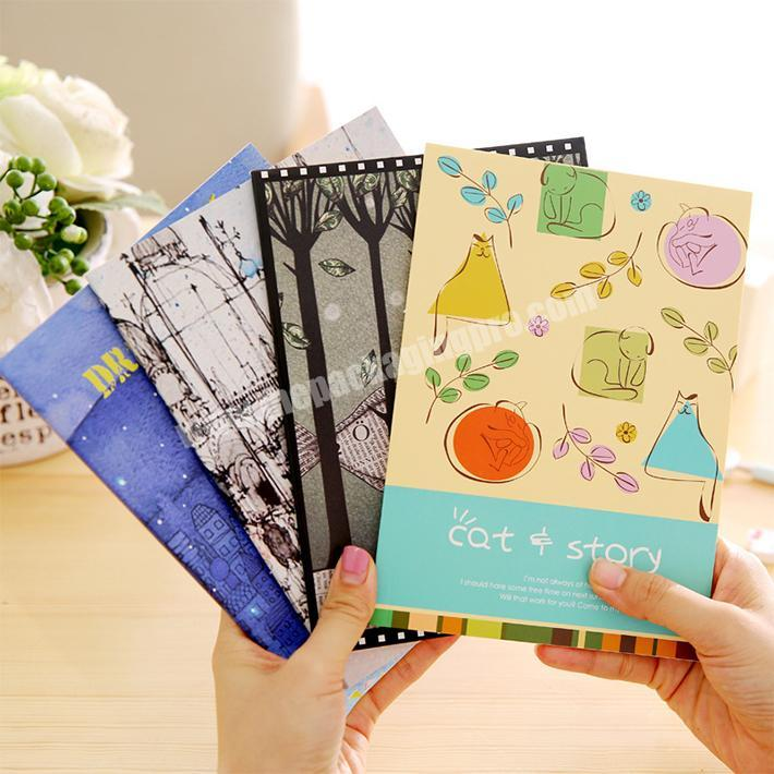 Wholesale cheap promotional paper softcover notebook custom print