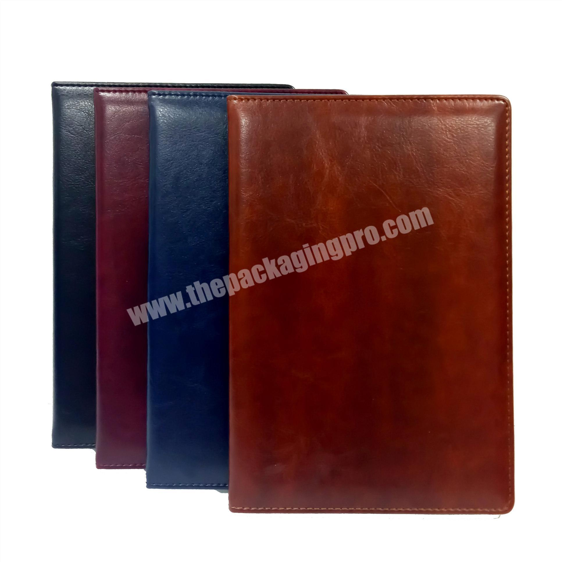 Wholesale Classic PU Leather Notebook Customized Size Address Book With Index Tabs