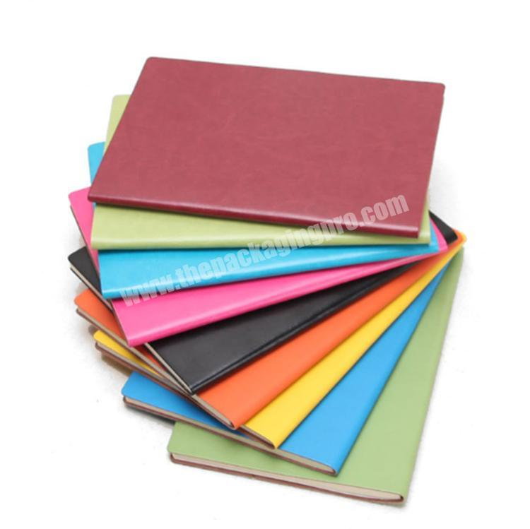 Wholesale Color Custom Hardcover Pu Covered Leather Notebook
