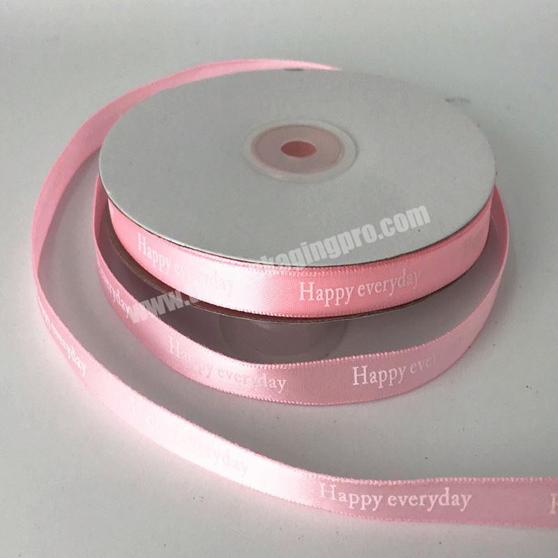 Wholesale Custom Brand Name Printed Satin Ribbons