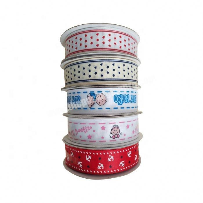 wholesale custom cartoon character printed grosgrain ribbon