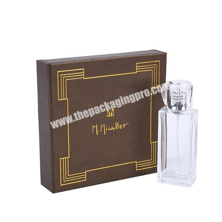 Wholesale Custom Design Cardboard Cosmetic Packaging Perfume Gift Box With Inserts