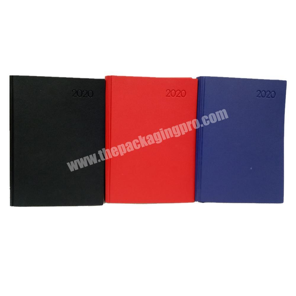 Wholesale custom diary leather cover notebook happy planner  printing journal