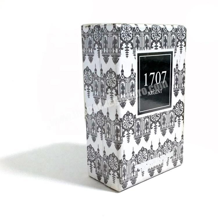 Supplier Wholesale custom high-end paper perfume box luxury with EVA base tray