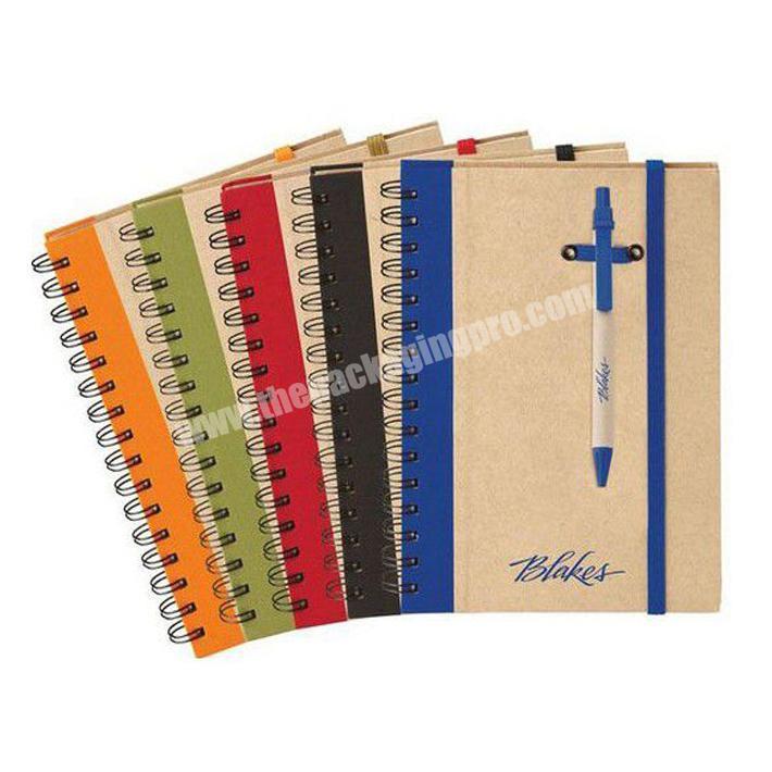 Wholesale custom Kraft paper notebook A4 spiral notebook